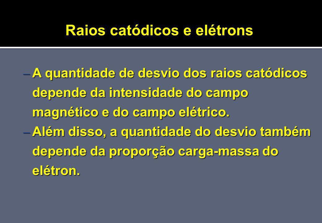 Raios catódicos e elétrons