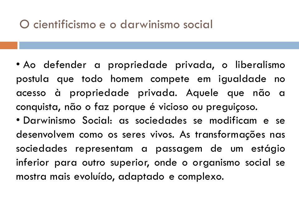 O cientificismo e o darwinismo social
