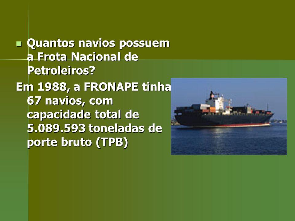 Quantos navios possuem a Frota Nacional de Petroleiros