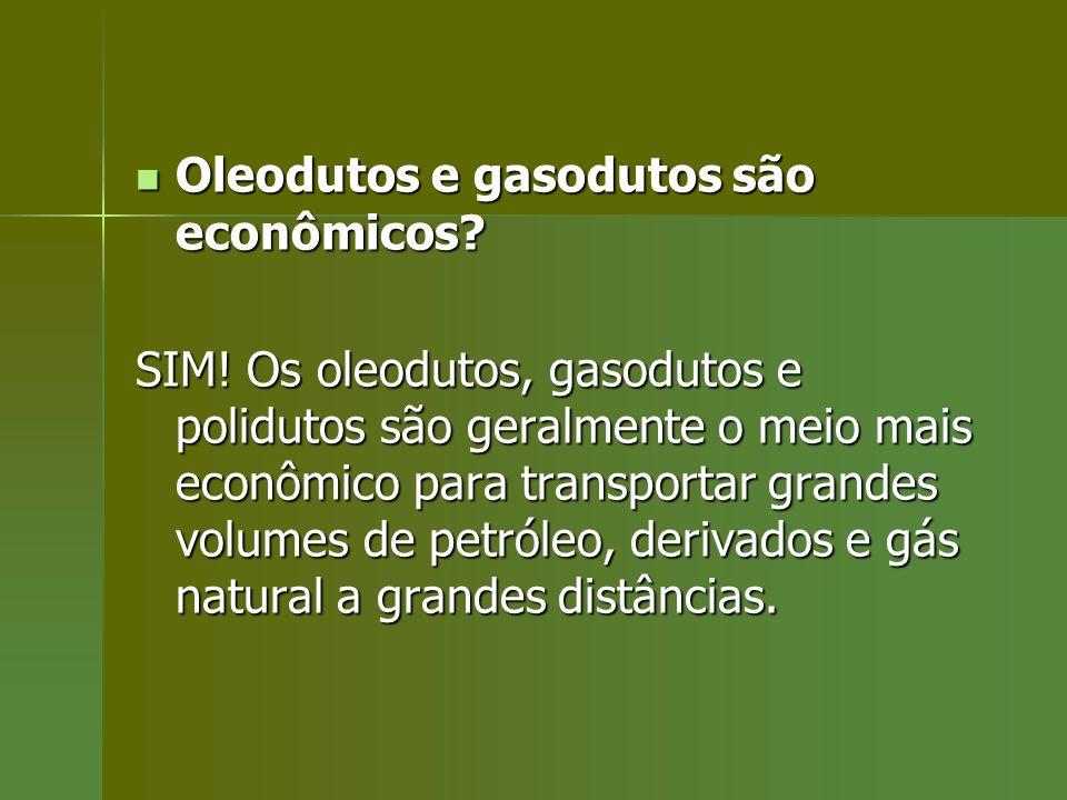 Oleodutos e gasodutos são econômicos