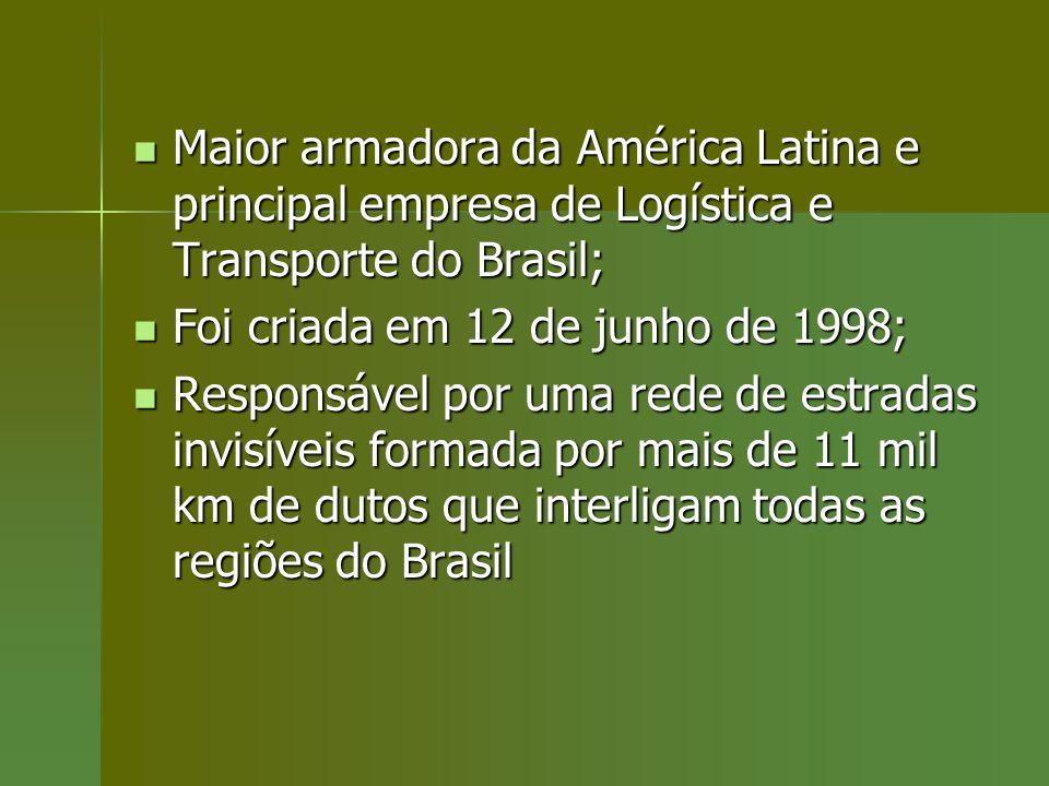 Maior armadora da América Latina e principal empresa de Logística e Transporte do Brasil;