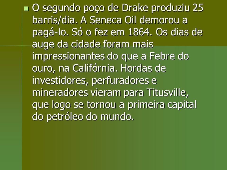 O segundo poço de Drake produziu 25 barris/dia