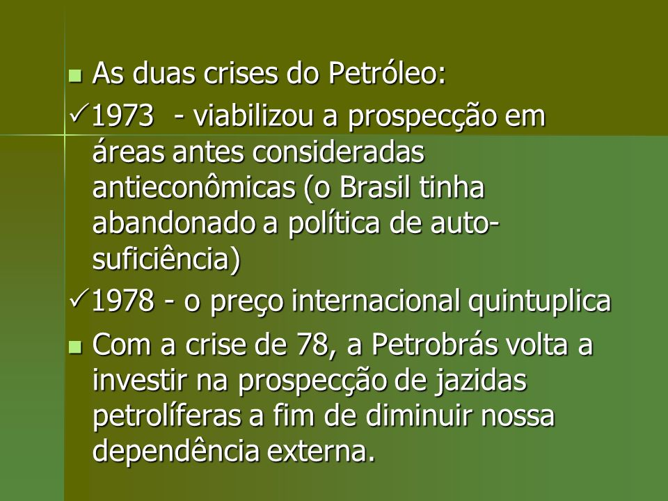 As duas crises do Petróleo: