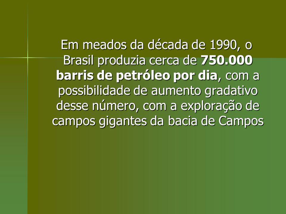 Em meados da década de 1990, o Brasil produzia cerca de 750