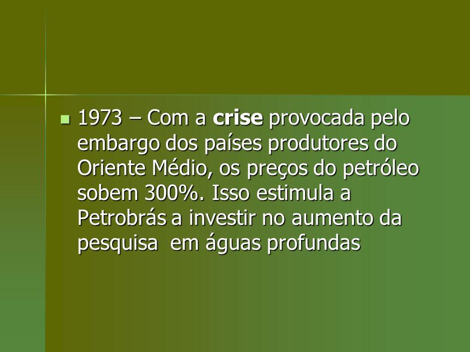 1973 – Com a crise provocada pelo embargo dos países produtores do Oriente Médio, os preços do petróleo sobem 300%.