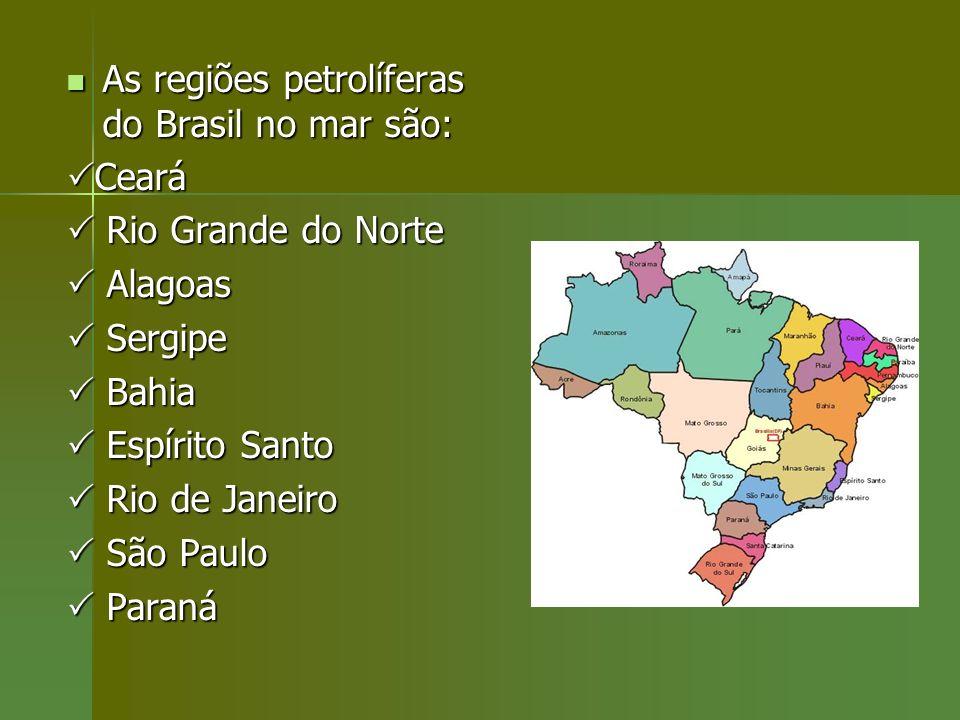 As regiões petrolíferas do Brasil no mar são:
