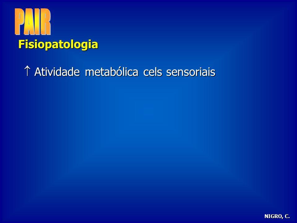 24/03/2017 PAIR Fisiopatologia  Atividade metabólica cels sensoriais
