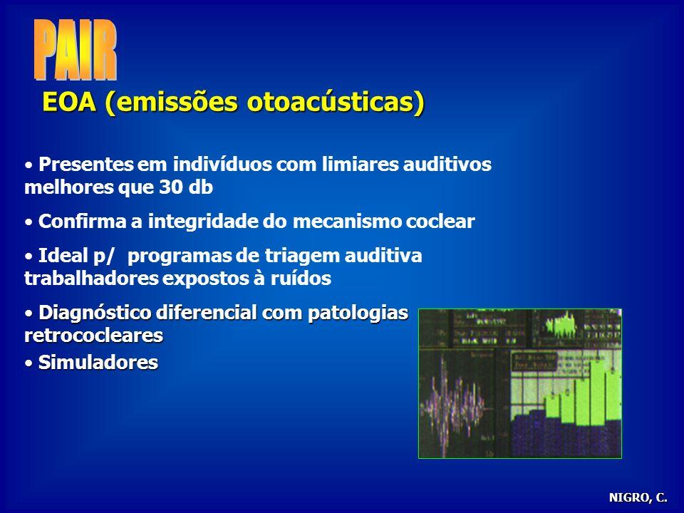PAIR EOA (emissões otoacústicas)