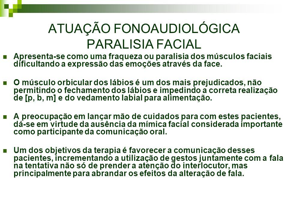 ATUAÇÃO FONOAUDIOLÓGICA PARALISIA FACIAL