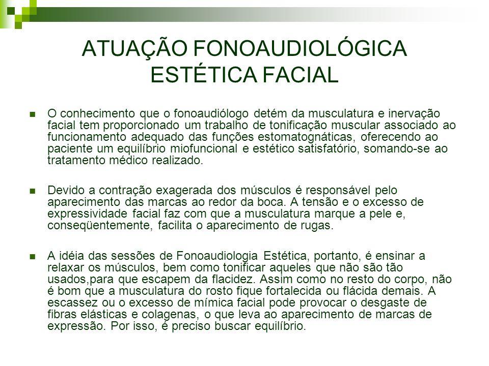 ATUAÇÃO FONOAUDIOLÓGICA ESTÉTICA FACIAL
