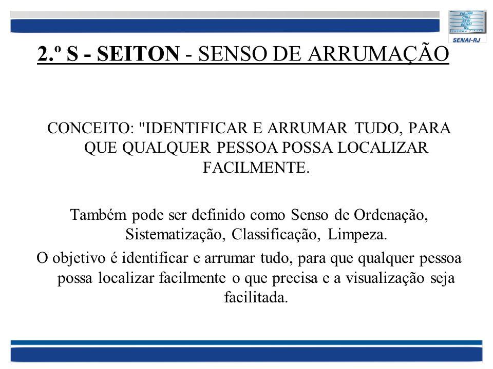 2.º S - SEITON - SENSO DE ARRUMAÇÃO