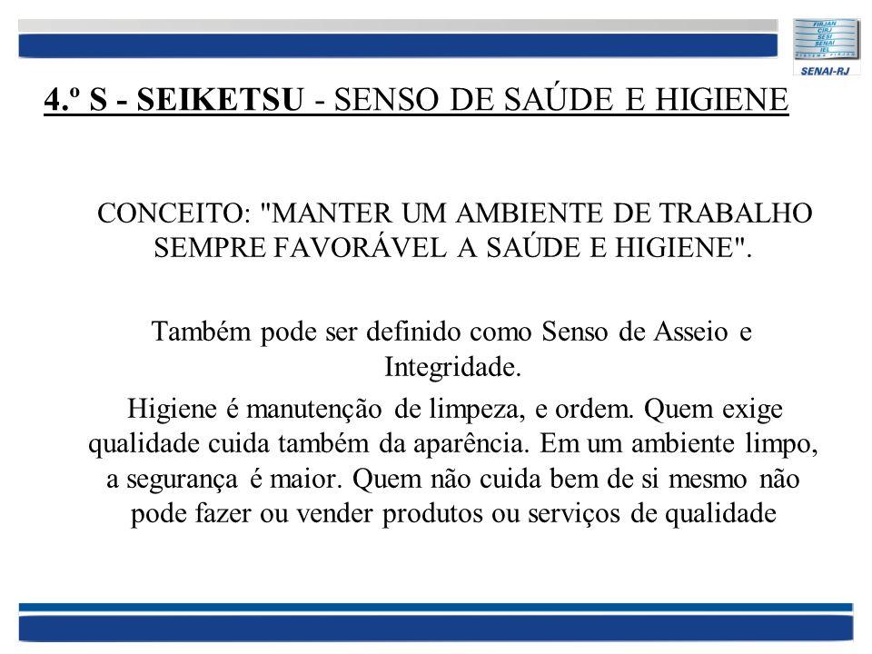 4.º S - SEIKETSU - SENSO DE SAÚDE E HIGIENE