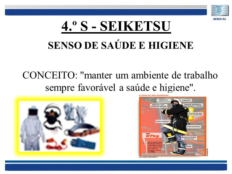 4.º S - SEIKETSU SENSO DE SAÚDE E HIGIENE