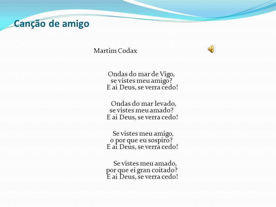 Canção de amigo Martim Codax