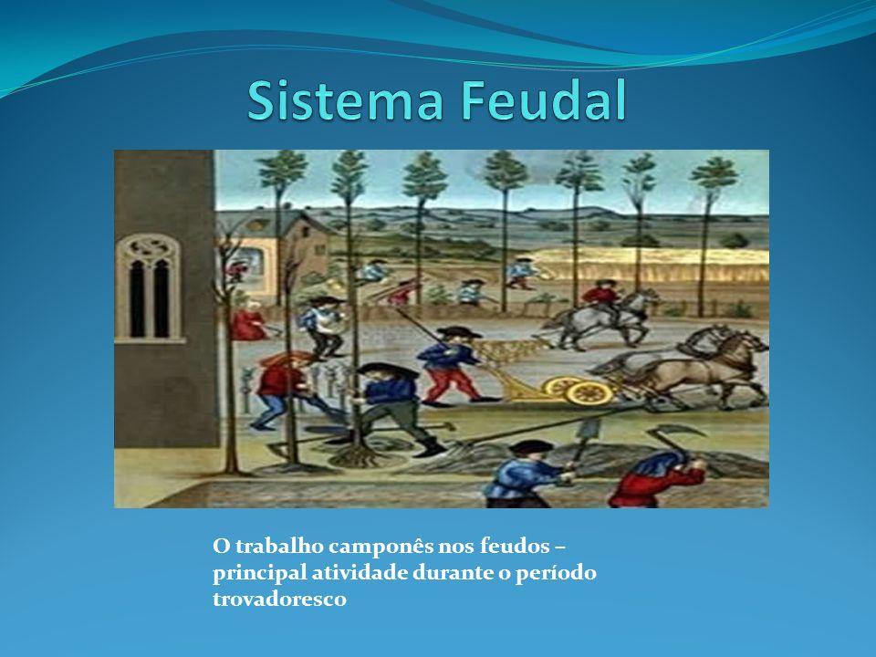 Sistema Feudal O trabalho camponês nos feudos – principal atividade durante o período trovadoresco