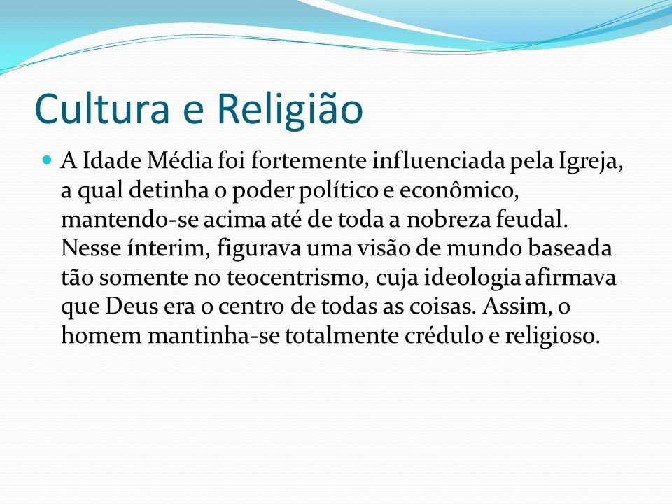 Cultura e Religião