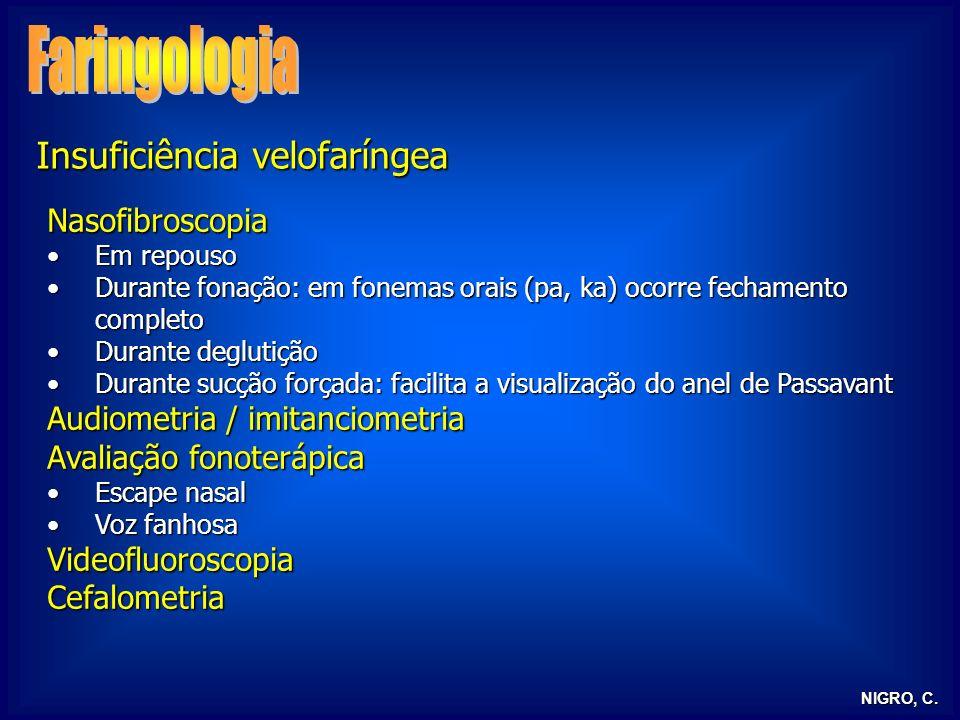 Faringologia Insuficiência velofaríngea Nasofibroscopia