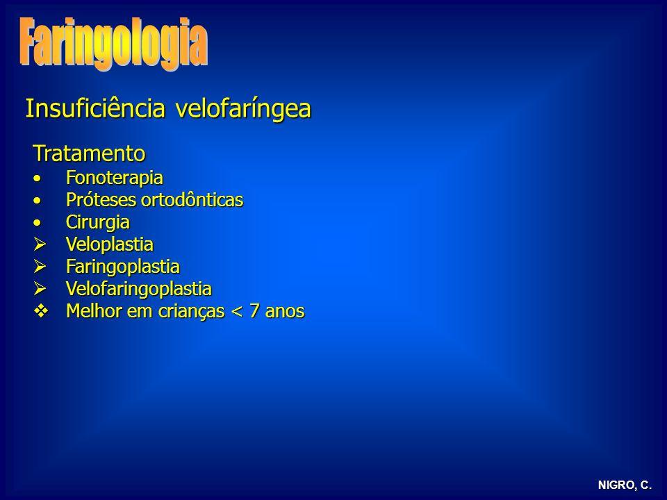 Faringologia Insuficiência velofaríngea Tratamento Fonoterapia