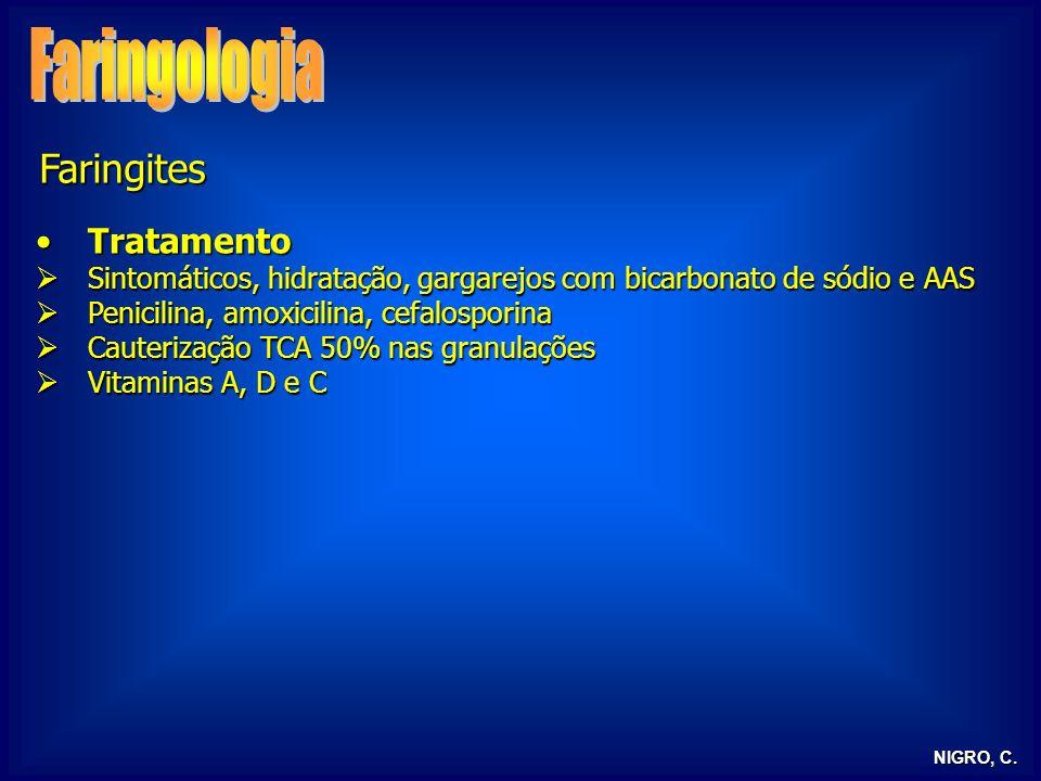 Faringologia Faringites Tratamento