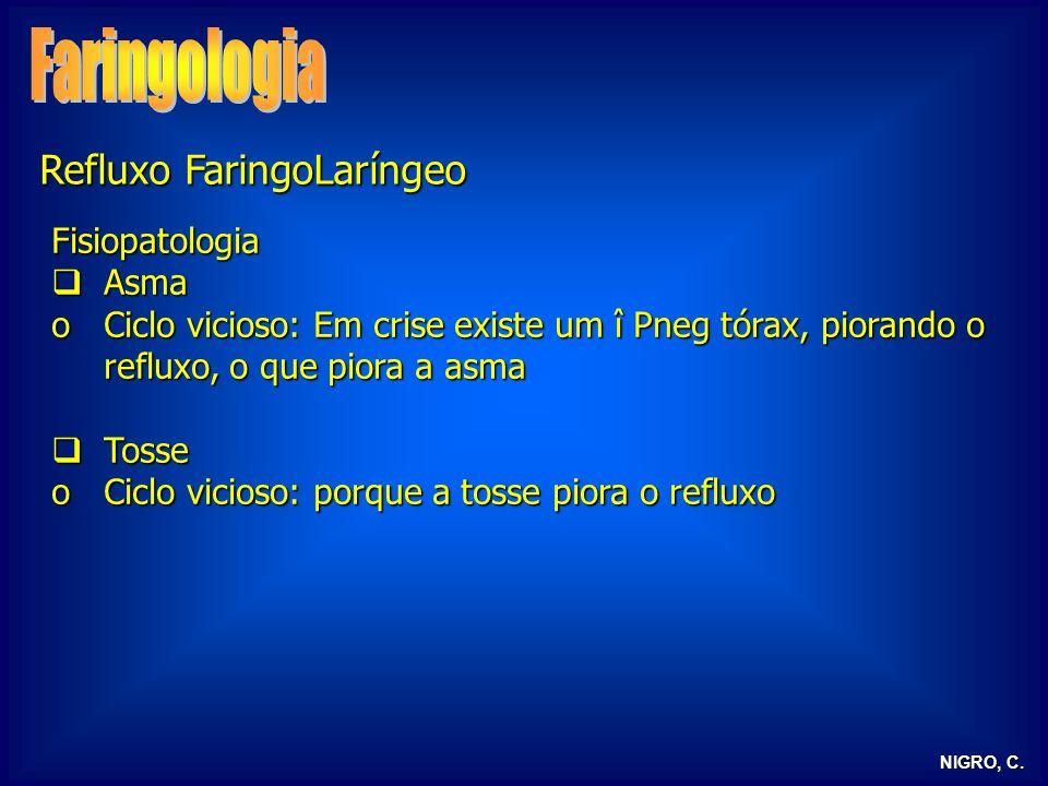 Faringologia Refluxo FaringoLaríngeo Fisiopatologia Asma