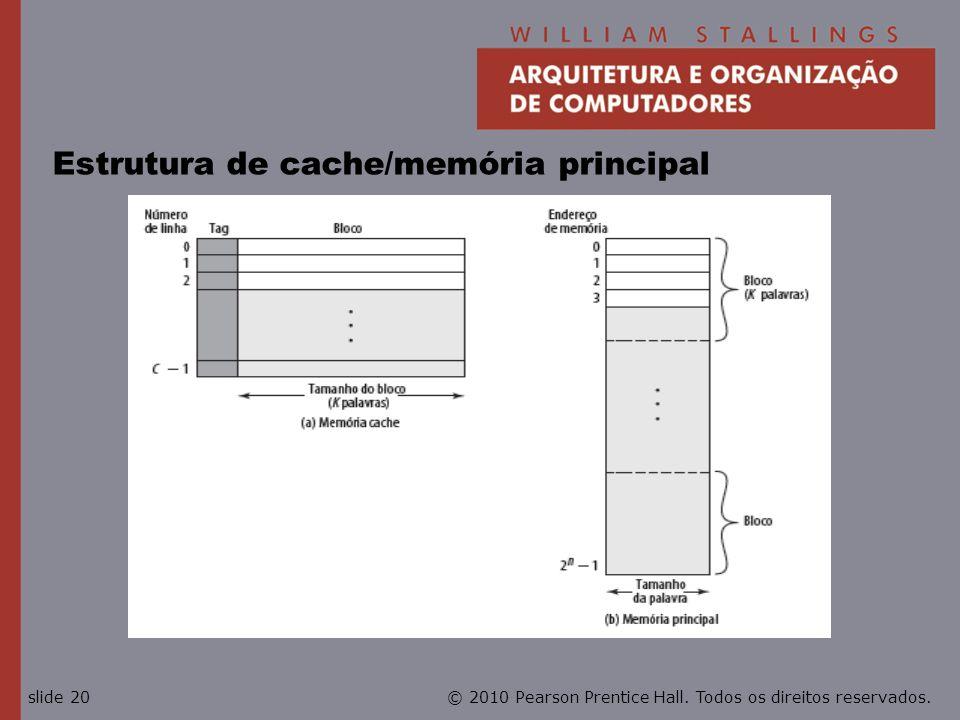 Estrutura de cache/memória principal