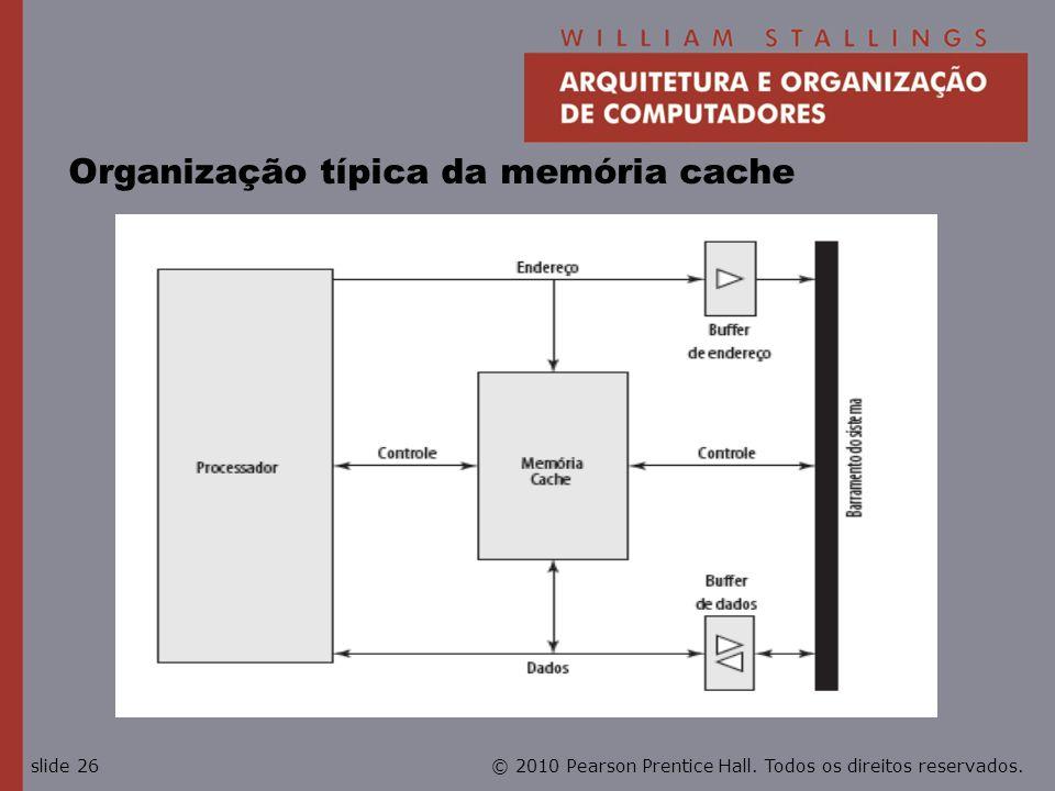 Organização típica da memória cache