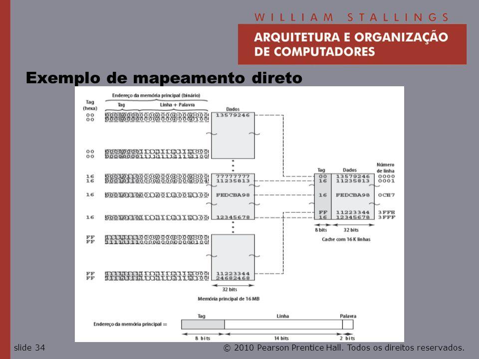 Exemplo de mapeamento direto