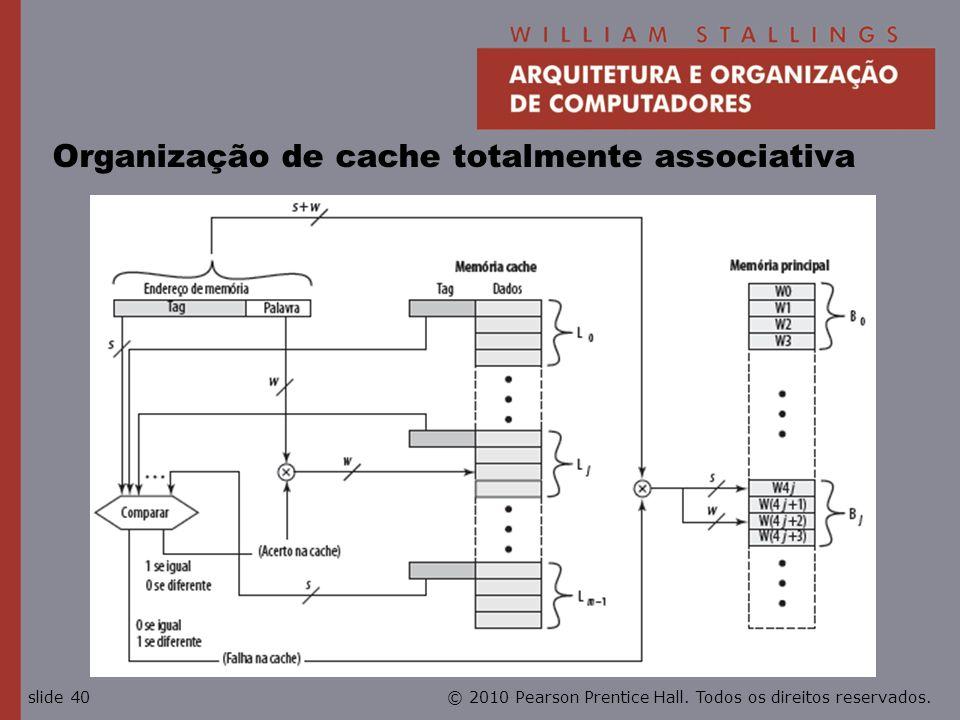 Organização de cache totalmente associativa