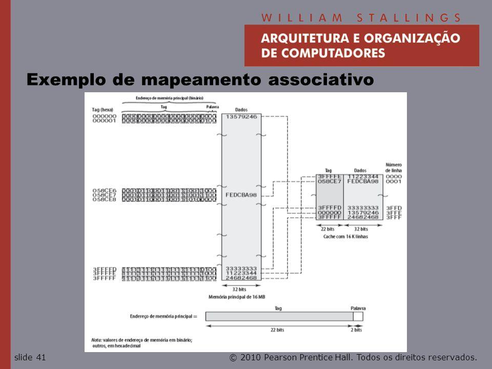 Exemplo de mapeamento associativo