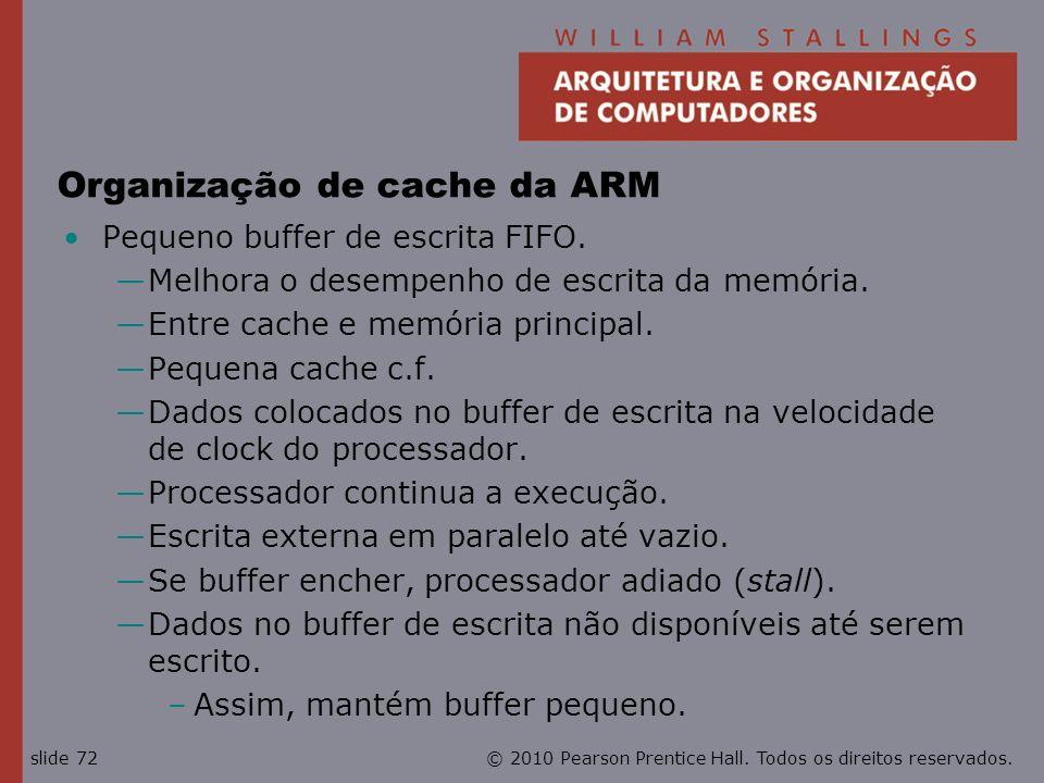 Organização de cache da ARM