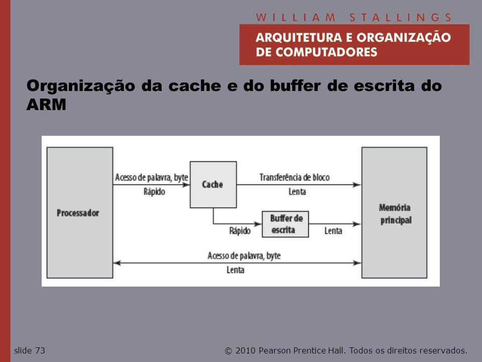 Organização da cache e do buffer de escrita do ARM