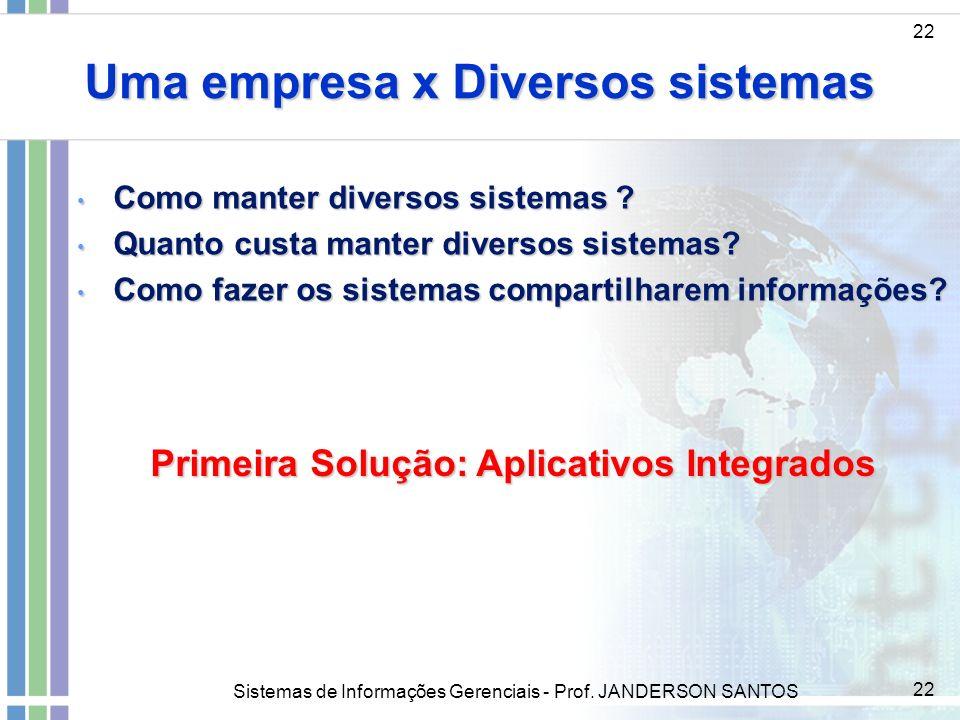 Uma empresa x Diversos sistemas