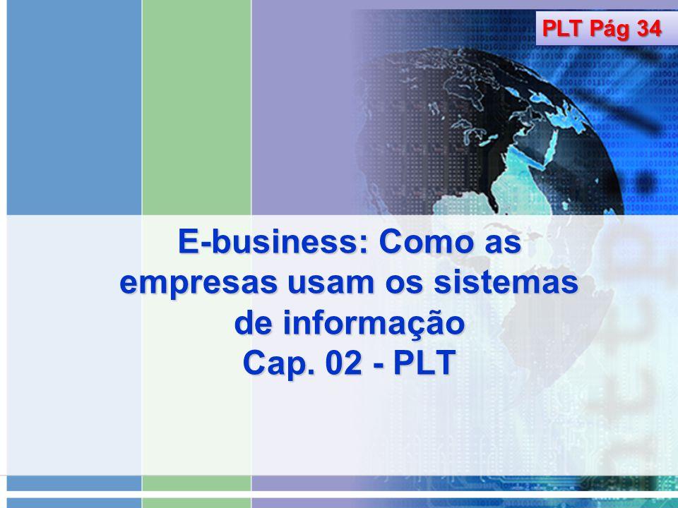 PLT Pág 34 E-business: Como as empresas usam os sistemas de informação Cap. 02 - PLT