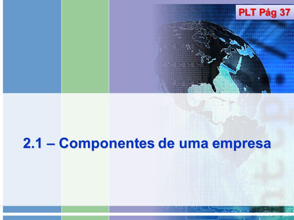 2.1 – Componentes de uma empresa