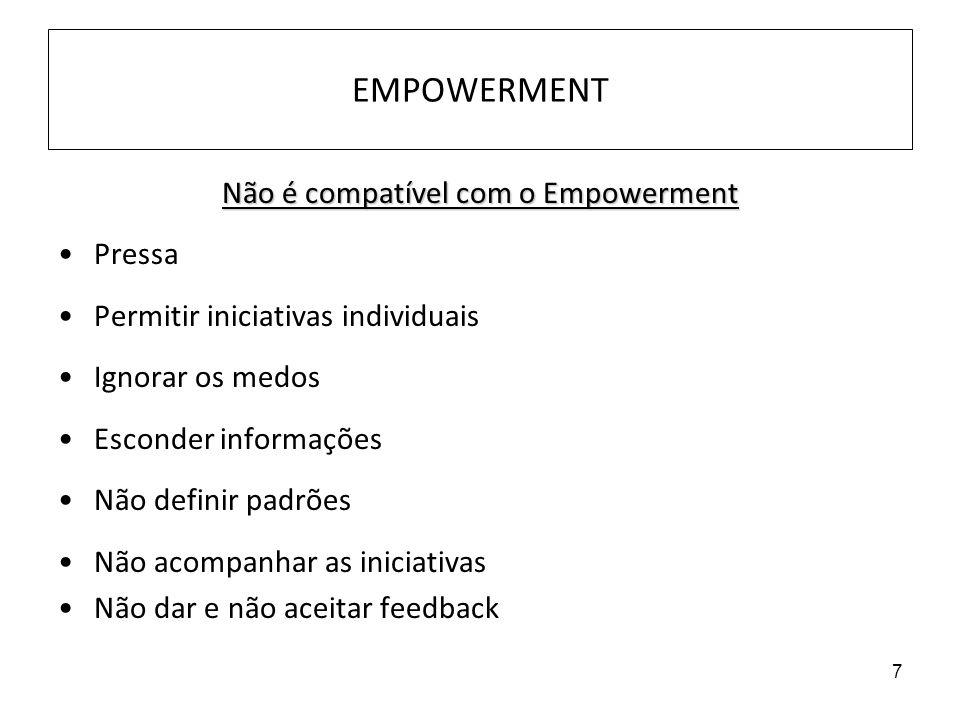Não é compatível com o Empowerment
