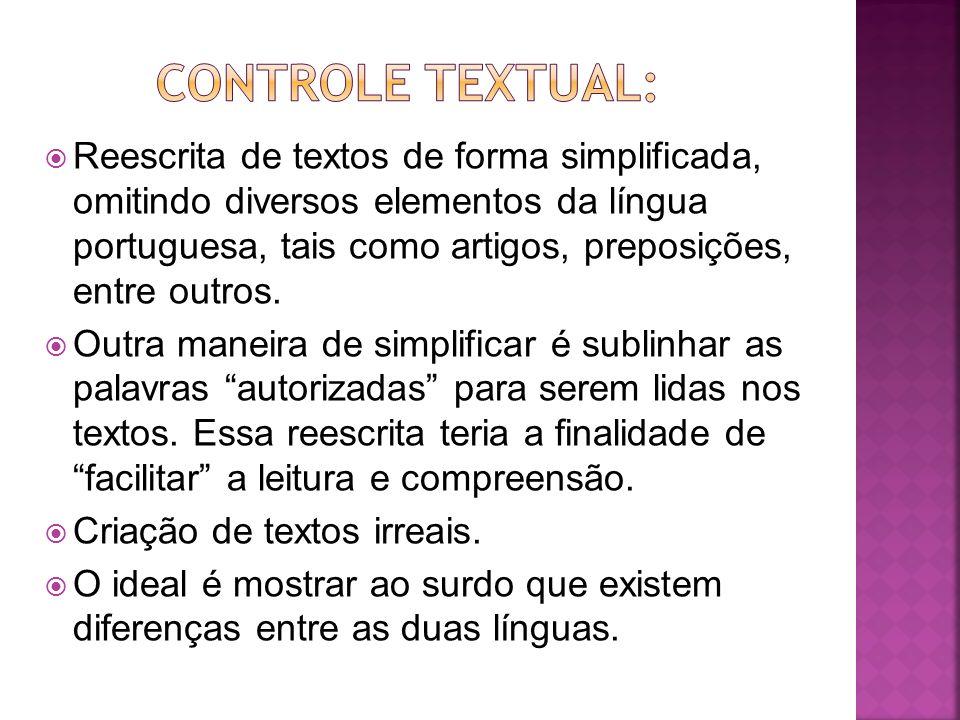 Controle textual: