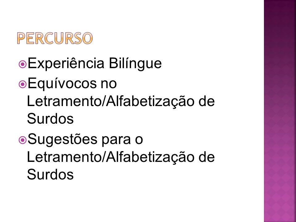 Percurso Experiência Bilíngue