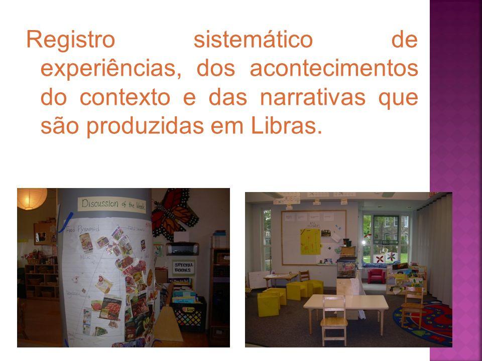 Registro sistemático de experiências, dos acontecimentos do contexto e das narrativas que são produzidas em Libras.