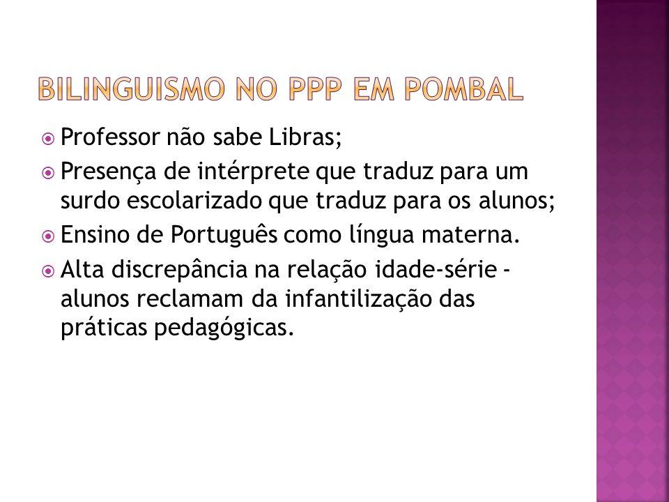Bilinguismo no ppp em pombal