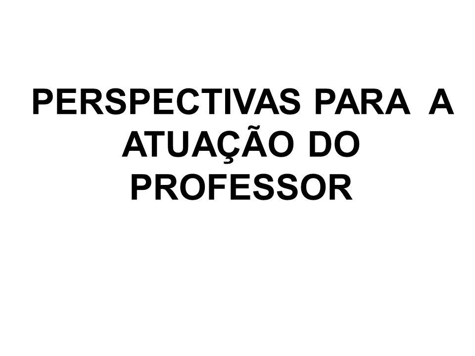 PERSPECTIVAS PARA A ATUAÇÃO DO PROFESSOR