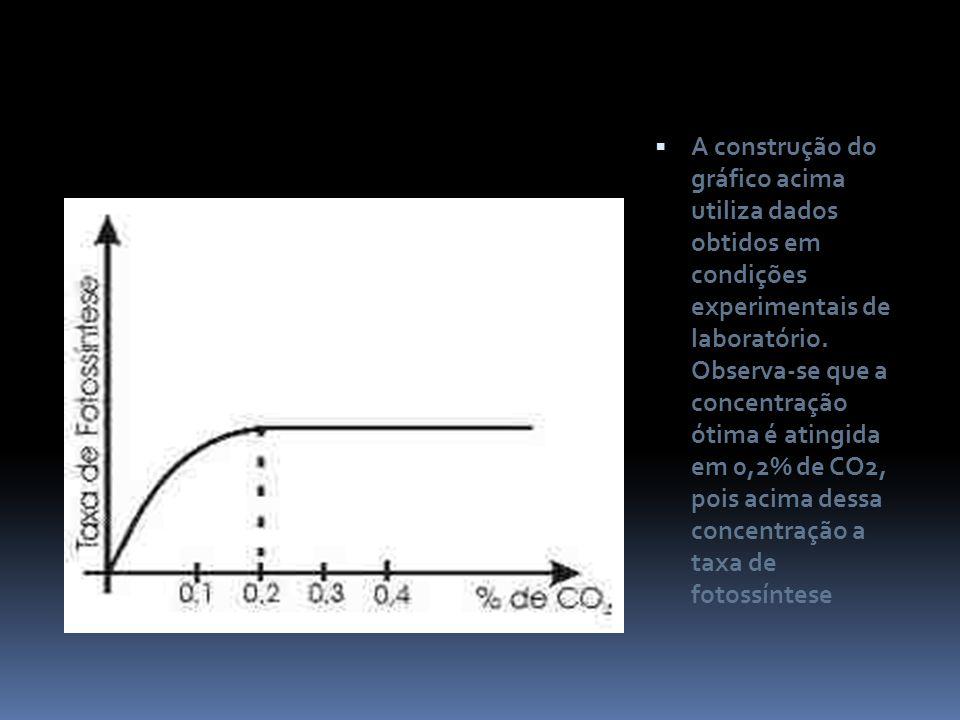 A construção do gráfico acima utiliza dados obtidos em condições experimentais de laboratório.