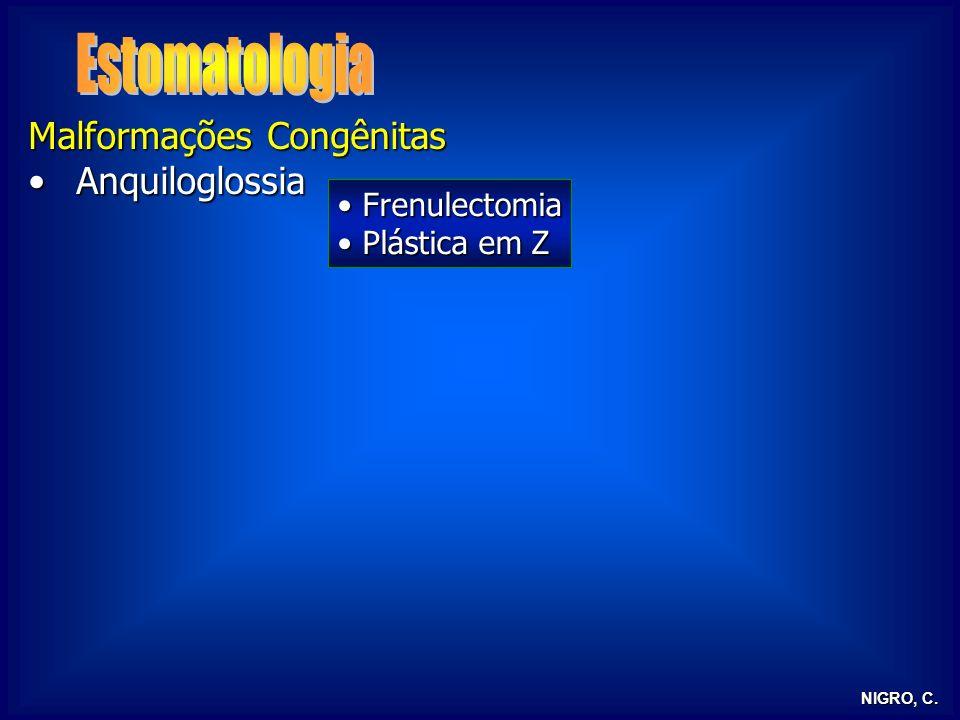 Estomatologia Malformações Congênitas Anquiloglossia Frenulectomia