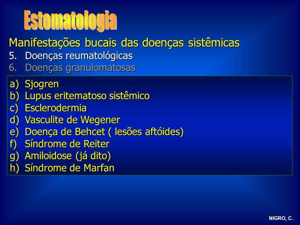 Estomatologia Manifestações bucais das doenças sistêmicas