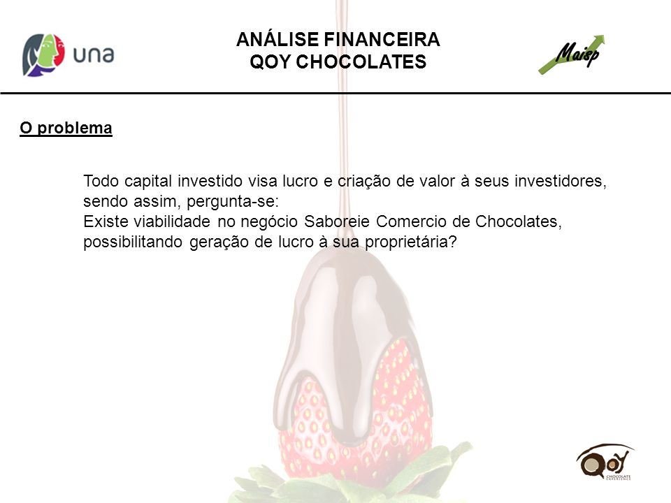 ANÁLISE FINANCEIRA QOY CHOCOLATES