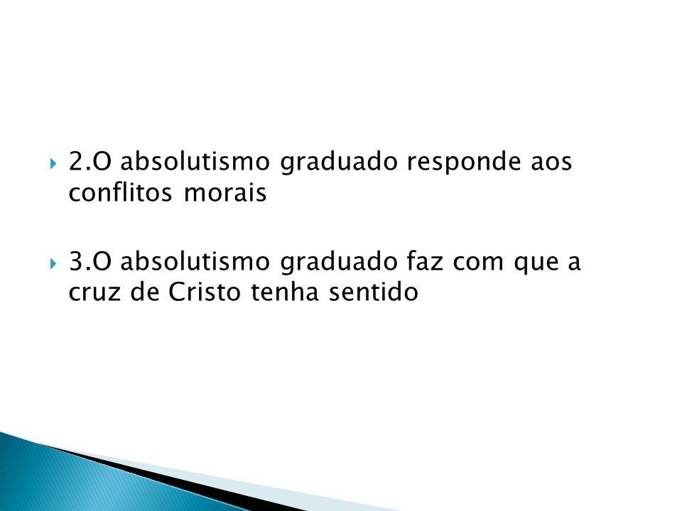 2.O absolutismo graduado responde aos conflitos morais