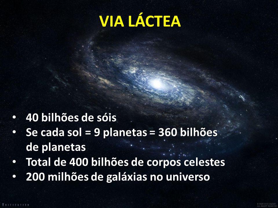 VIA LÁCTEA 40 bilhões de sóis