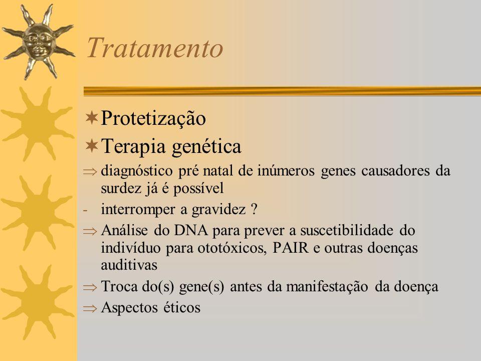 Tratamento Protetização Terapia genética