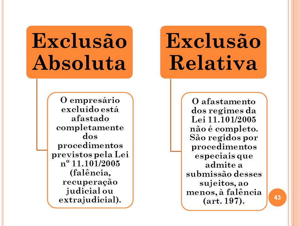 Exclusão Absoluta