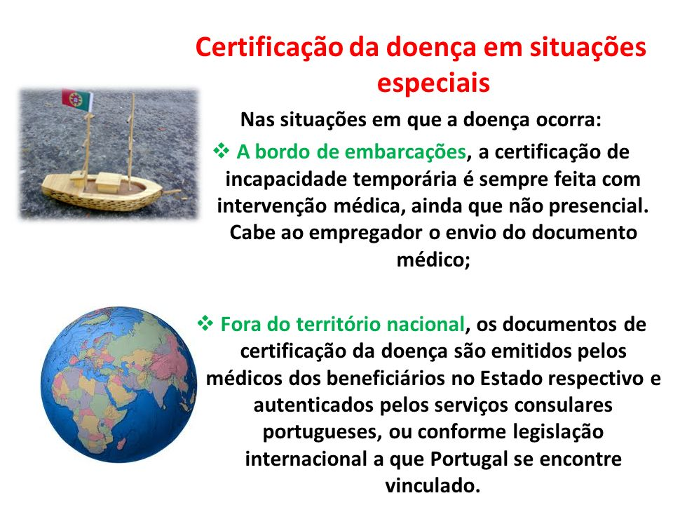 Certificação da doença em situações especiais