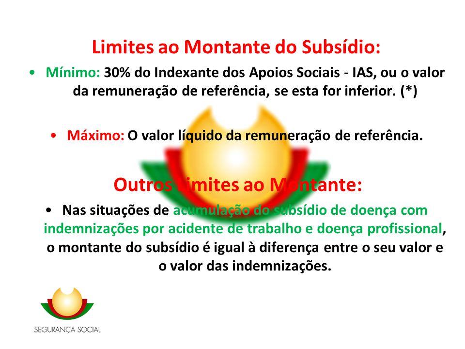Limites ao Montante do Subsídio: